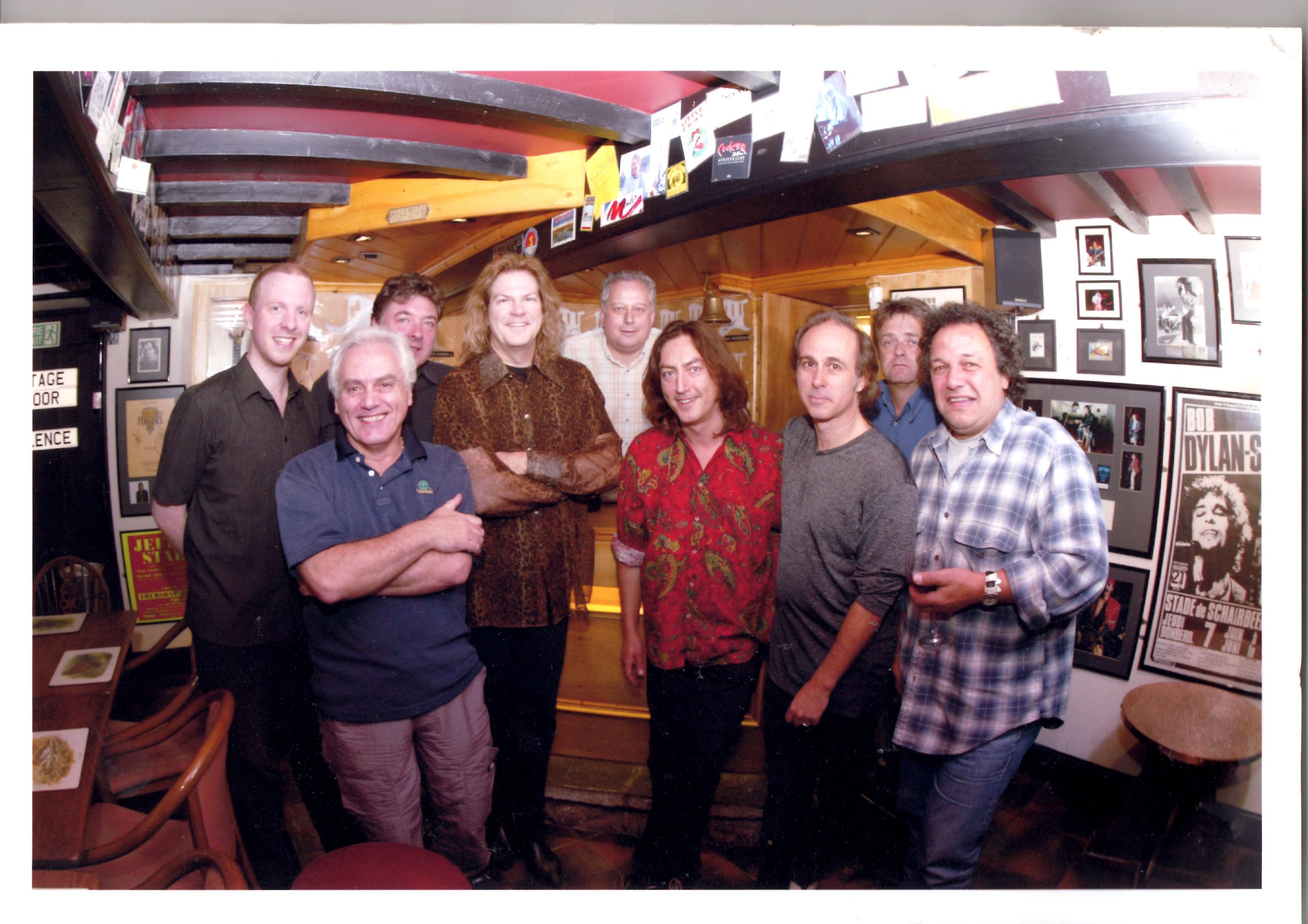 David Mundell with some legenday Artists that have played for Mundell Music