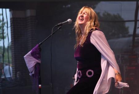 Deborah Bonham Backstage at the Green Hotel Kinross