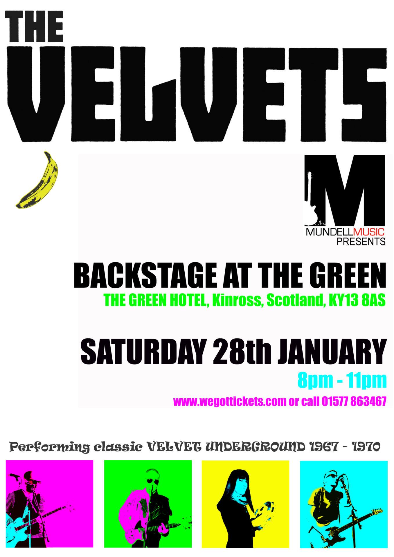 The Velvets Play Backstage Kinross - Mundell MusicMundell Music