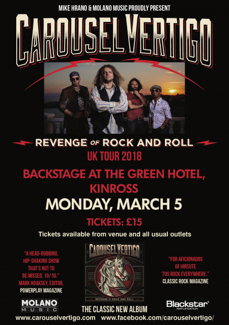 Carousel Vertigo play Kinross in March 2018