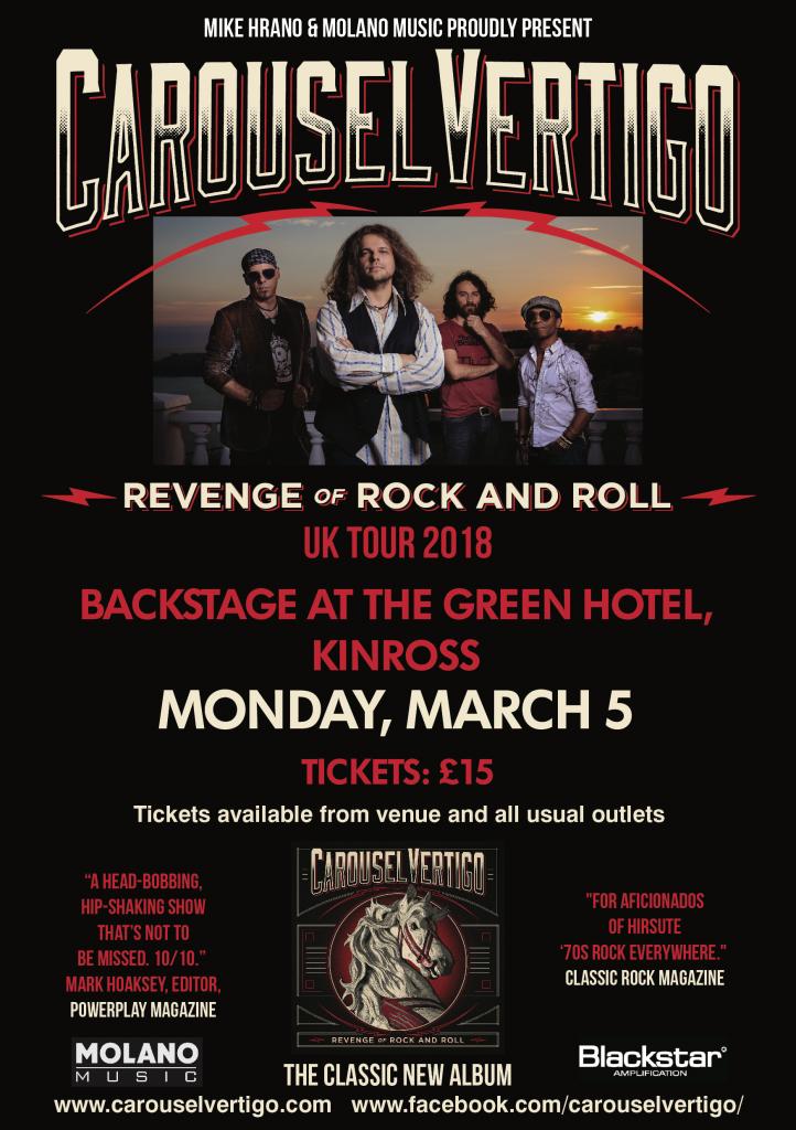 Carousel Vertigo play Kinross in March 2018
