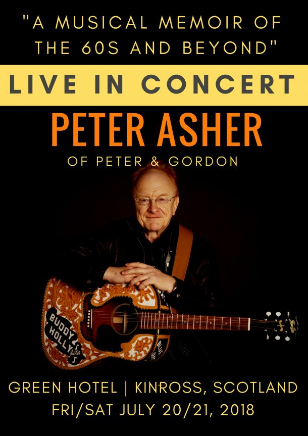 Peter Asher plays Backstage Kinross for EMS / Mundell Music