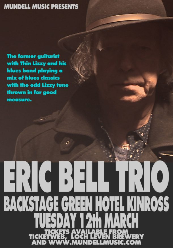 Eric Bell Trio Play Backstage Kinross For Mundell Music