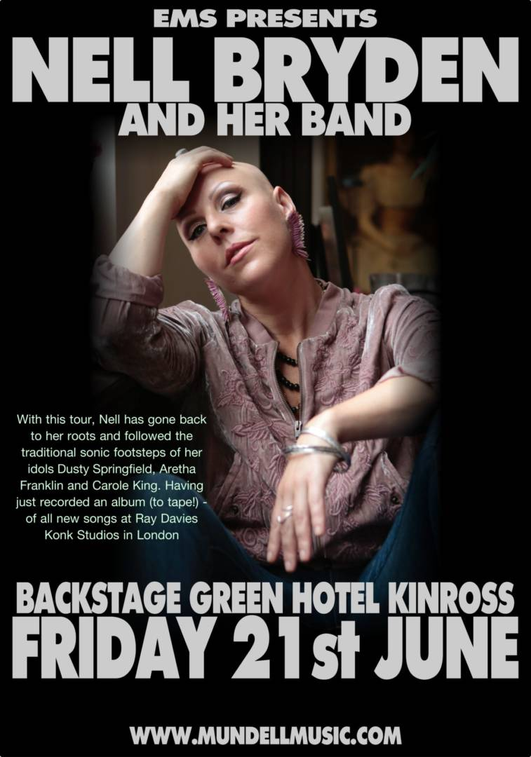 Nell Bryden Returns To Backstage in Kinross