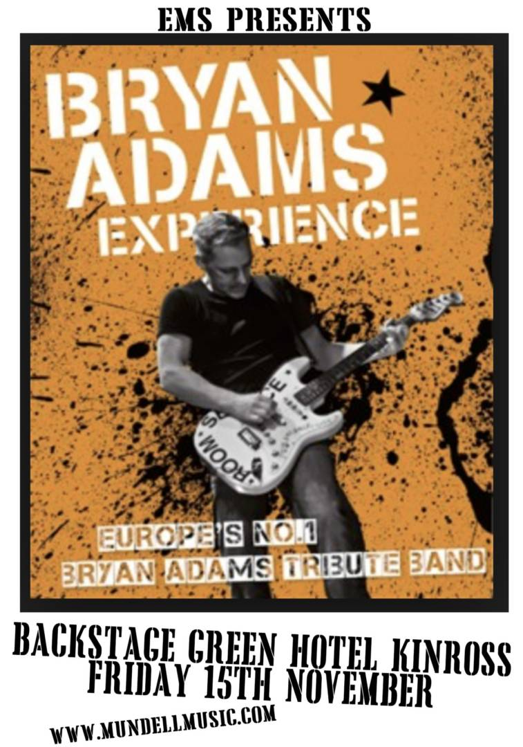 The Bryan Adams Experience Comes To Kinross