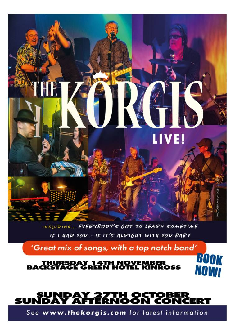 The Korgis Play Backstage Kinross In November 2019