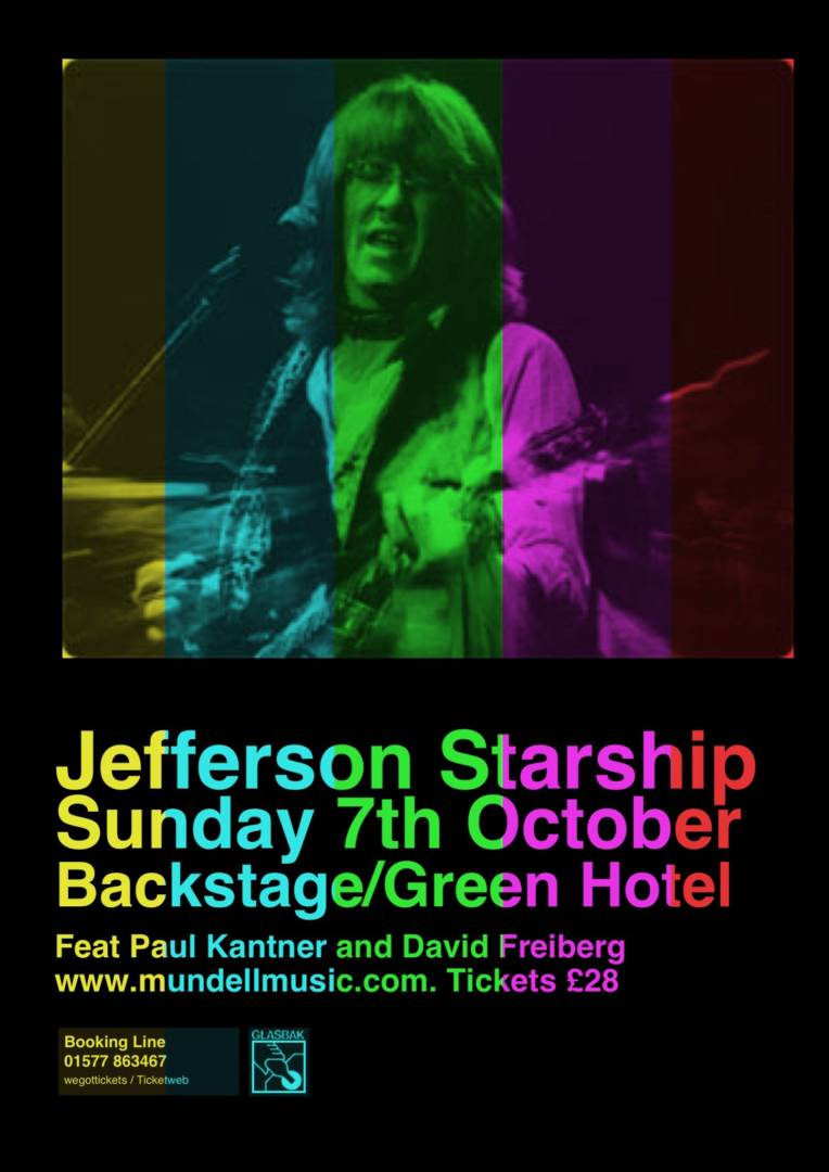 Jefferson starship Play Backstage for Mundell Music