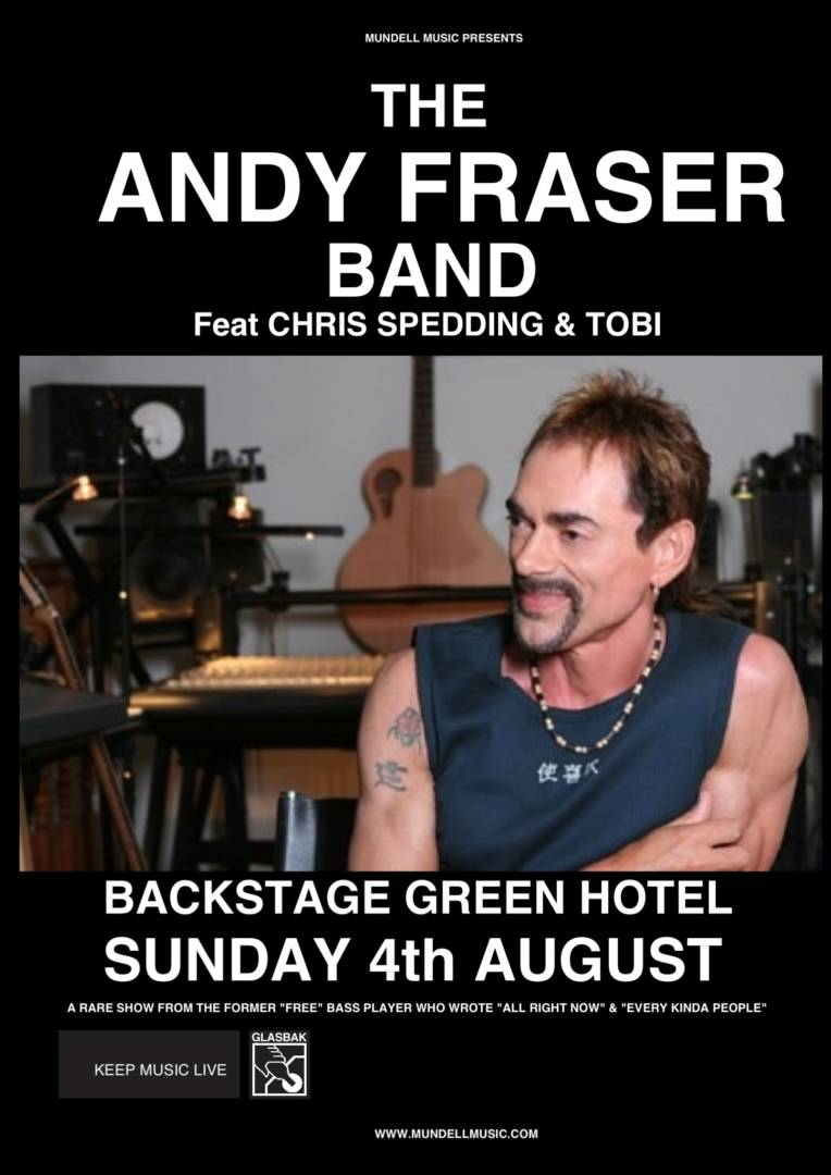 Andy Fraser Plays Backstage for Mundell Music